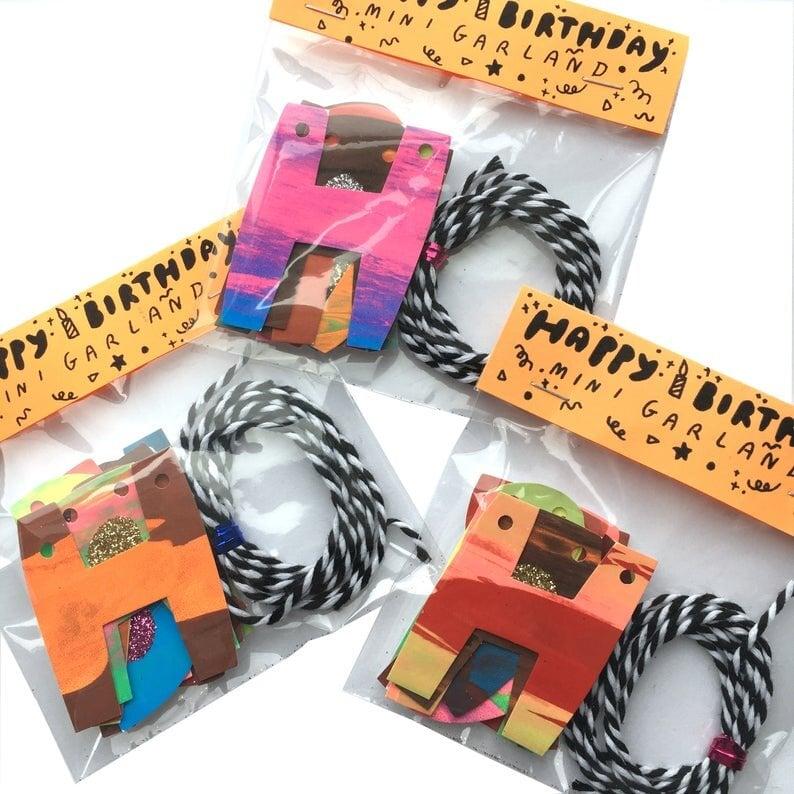 Image of Crunch Supply Happy Birthday Mini Garland