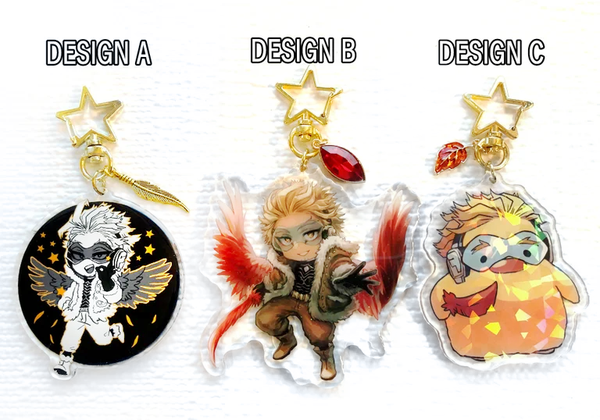 Image of BNHA Hawks Charms | 3 Designs