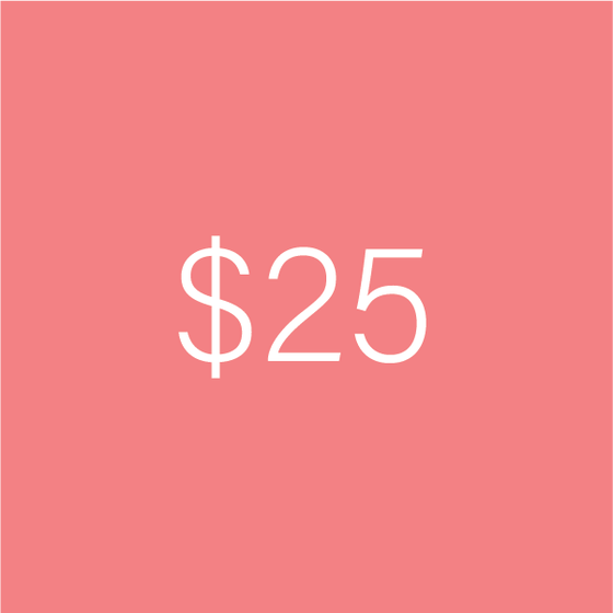 Image of $25 e-Gift Certificate