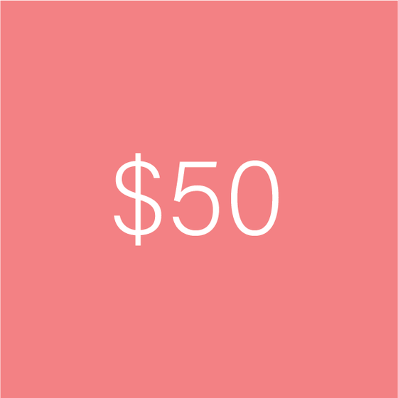 Image of $50 e-Gift Certificate