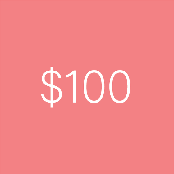 Image of $100 e-Gift Certificate