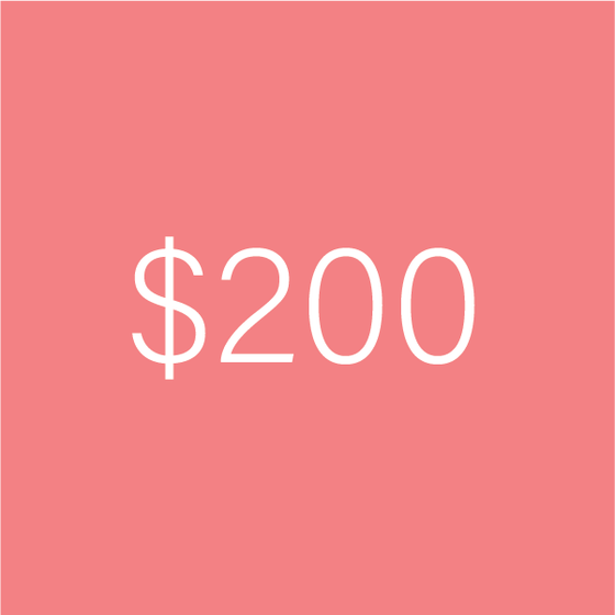 Image of $200 e-Gift Certificate