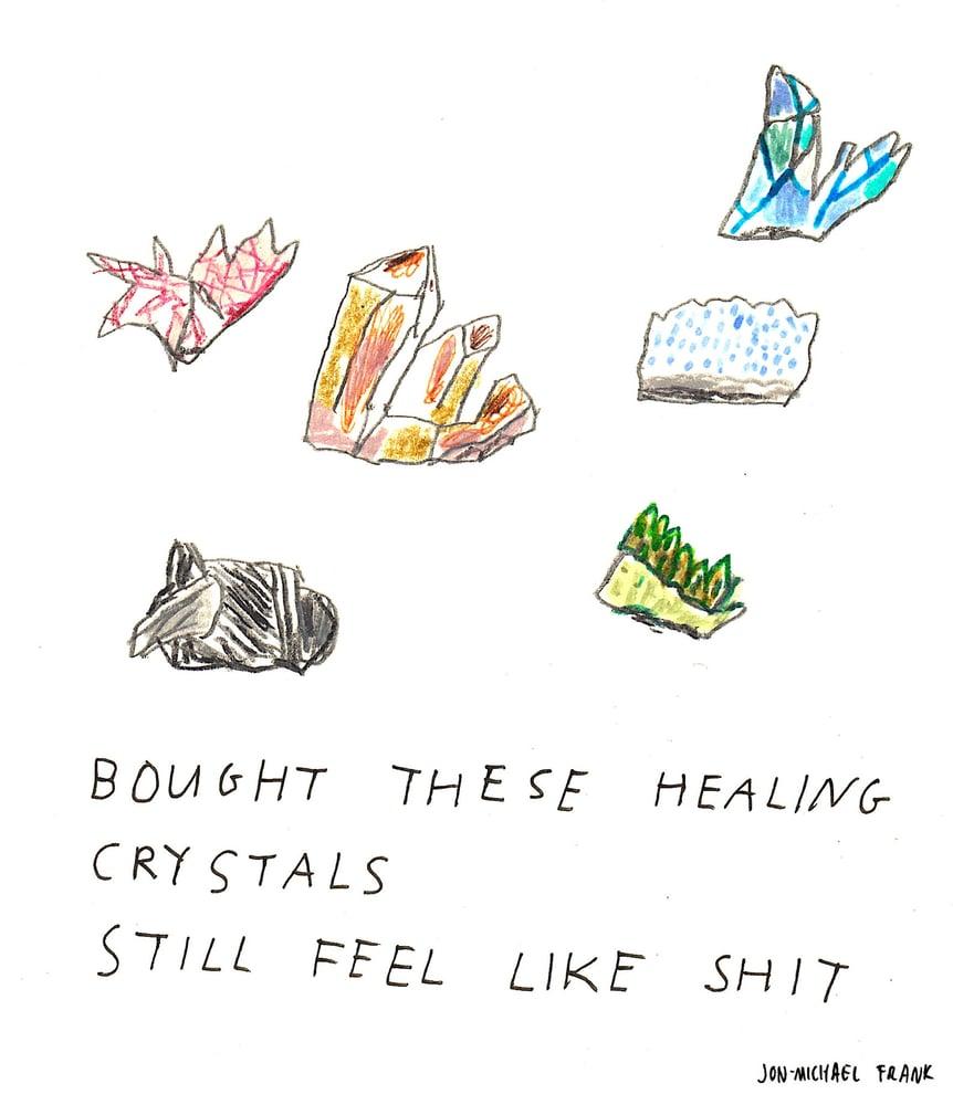 Image of Jon-Michael Frank - Healing Crystals Print