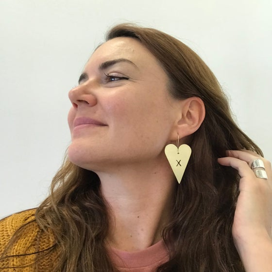 Image of EARRINGS: BIG LOVE (with little kisses)