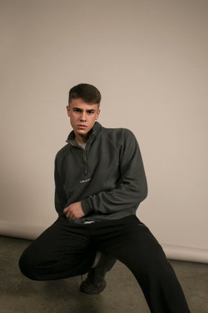 Image of WASHED ZIP SWEATER