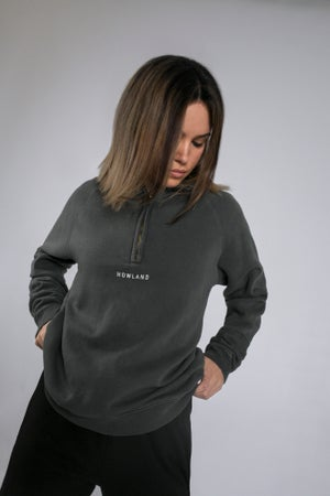Image of WASHED ZIP SWEATER G.