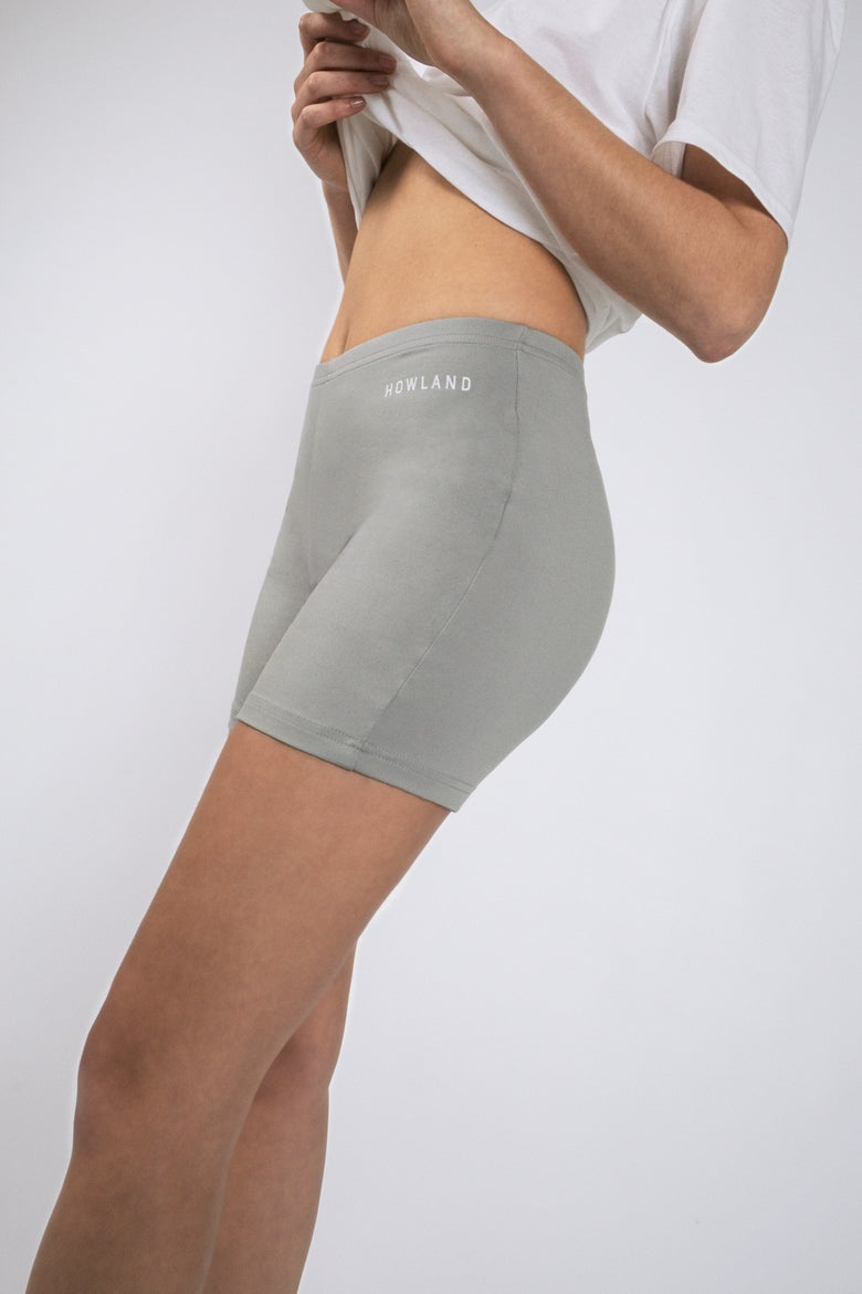 Image of GREY BIKER SHORT