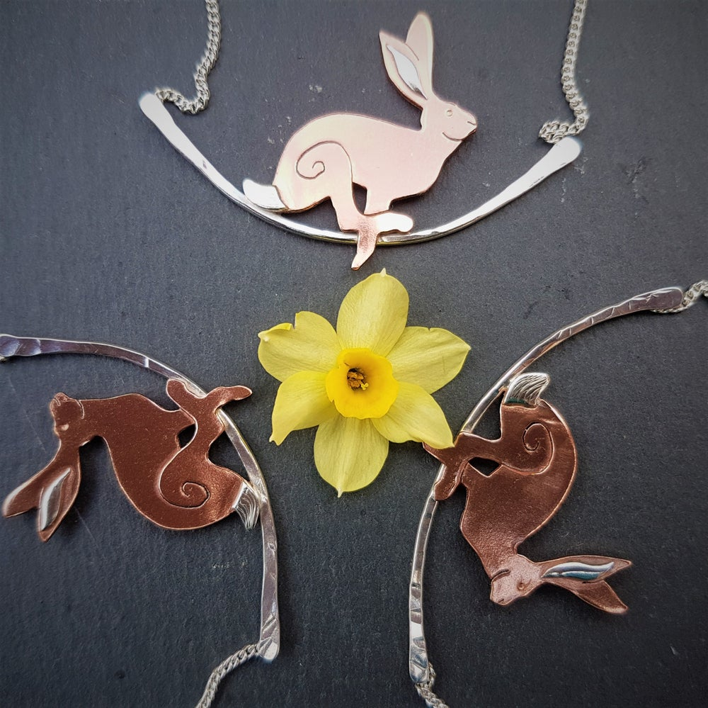 Image of Sprinting Hare Necklace