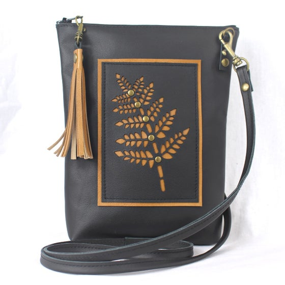 Image of Leather Dance Bag - Fern Black & Tan