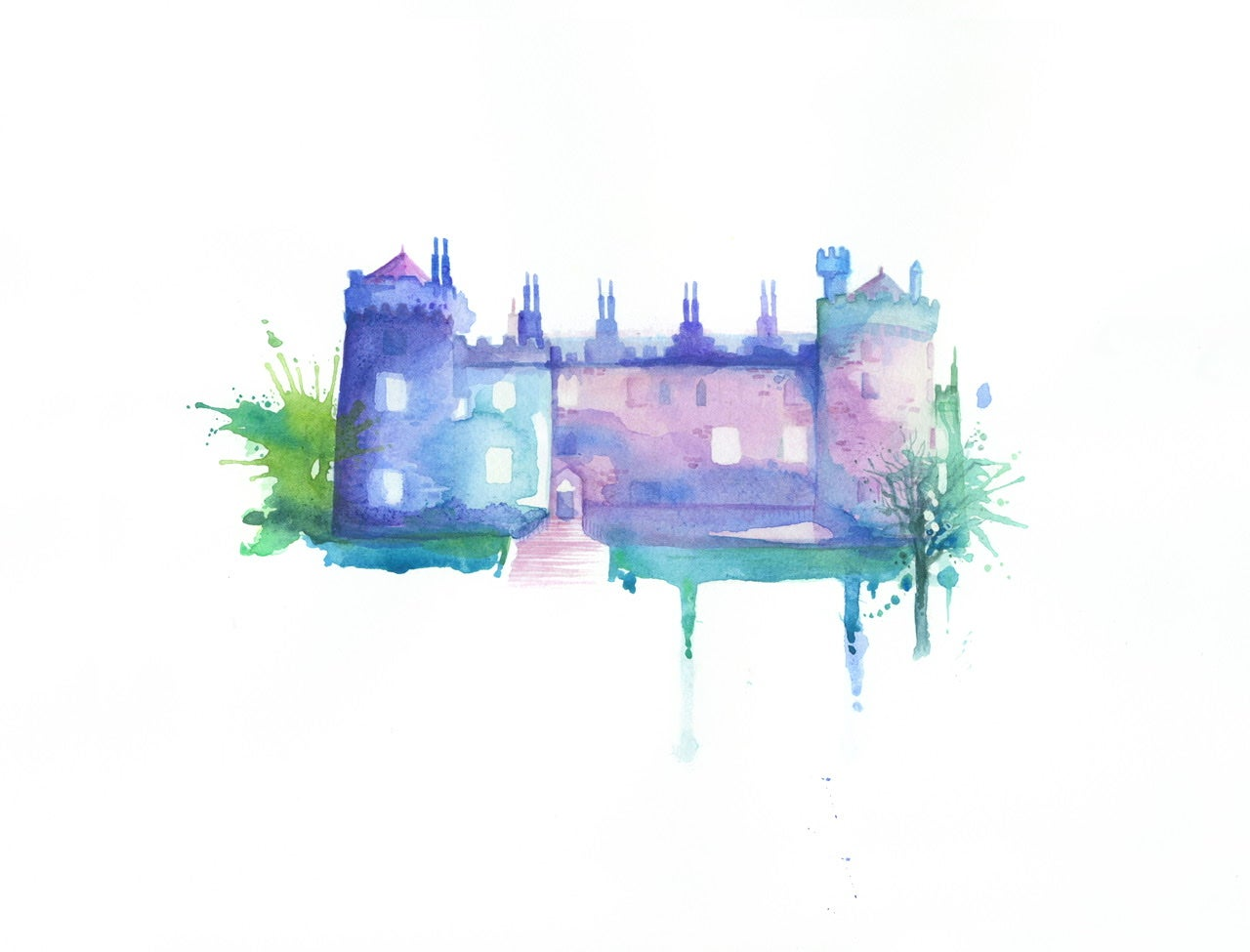 Image of Kilkenny Castle unframed A4 size