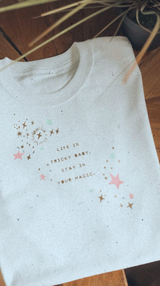 Image of Life is tricky adults and kids tee and jumper