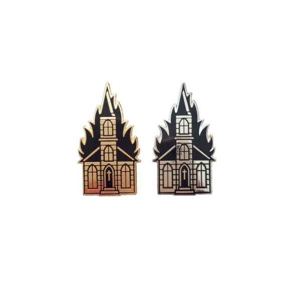 Image of Burning Church Pin