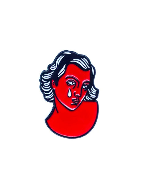Image of Red Lady pin