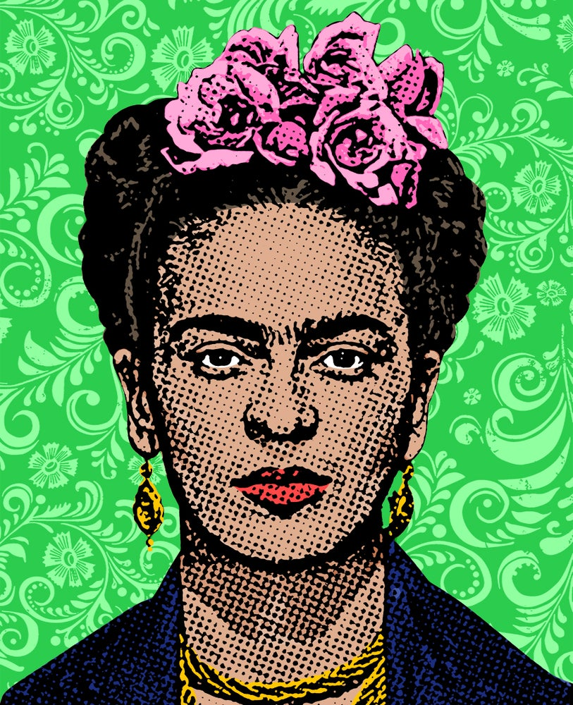 Image of Frida Sticker (Green)