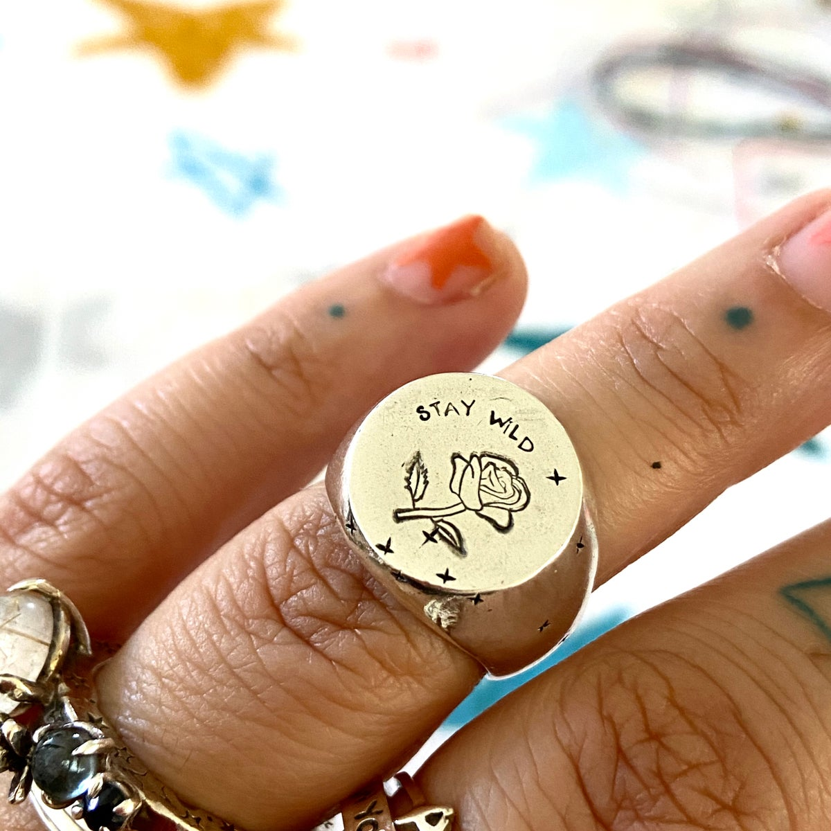 Image of Stay Wild signet ring
