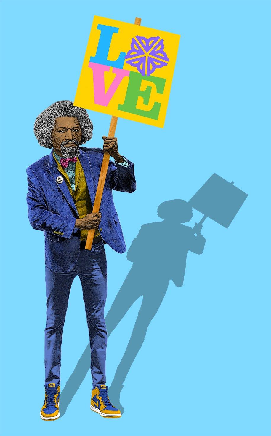 Image of Frederick Douglass Love Sticker
