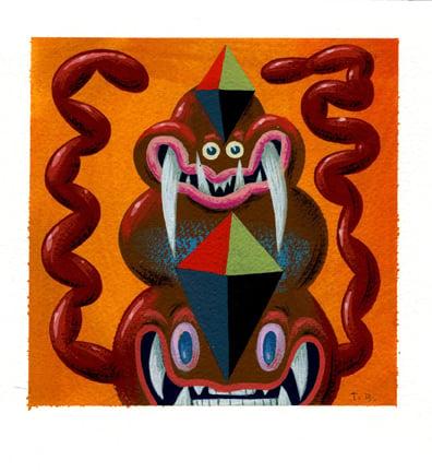Image of Tim Biskup - Untitled (orange)
