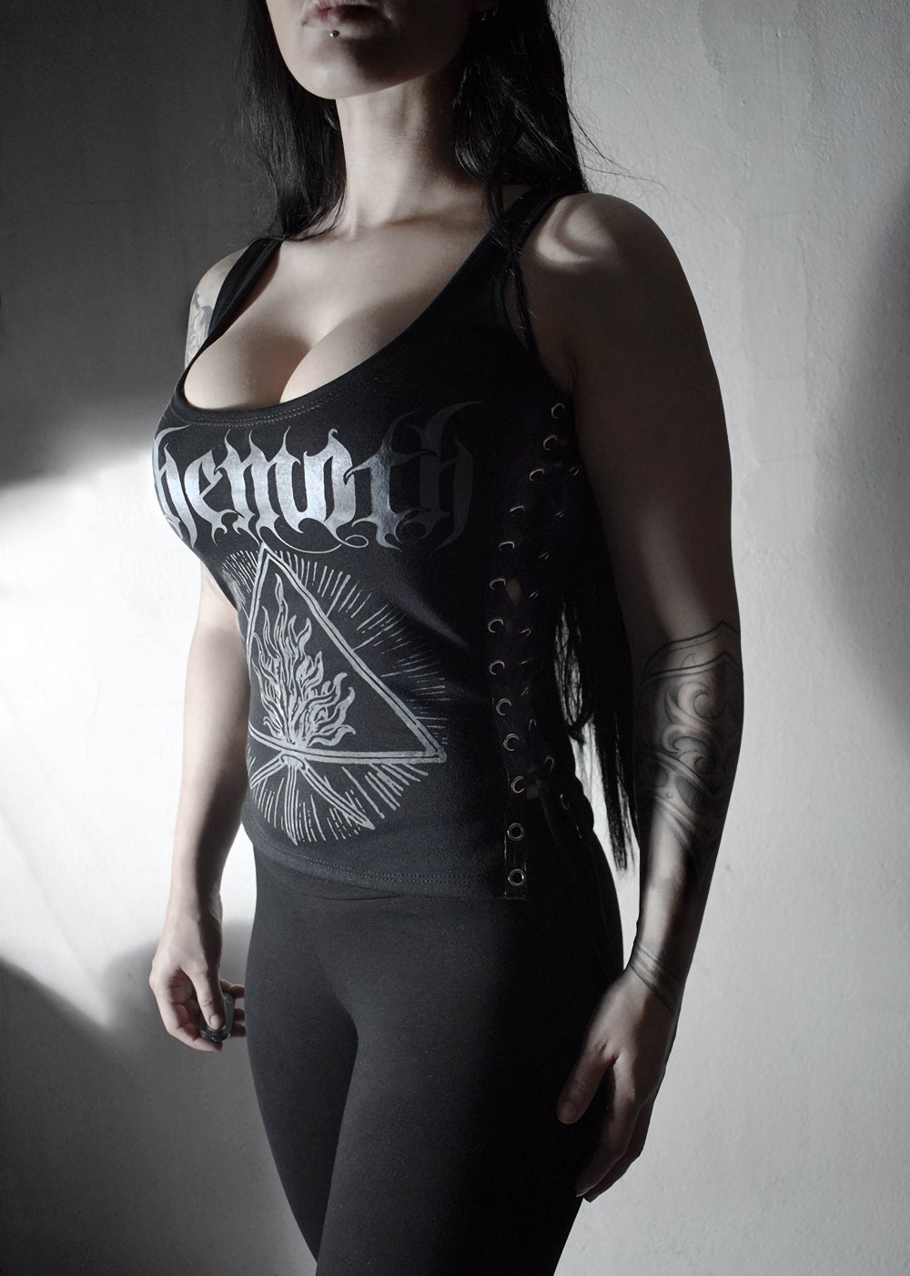 Image of Behemoth Furor Divinus Top Shirt  Lace-up on sides Tank Top FREE SHIPPING