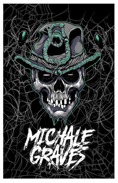 "Image of 18X12 Michale Graves ""SCARECROW HEAD""  PRINT SIGNED"