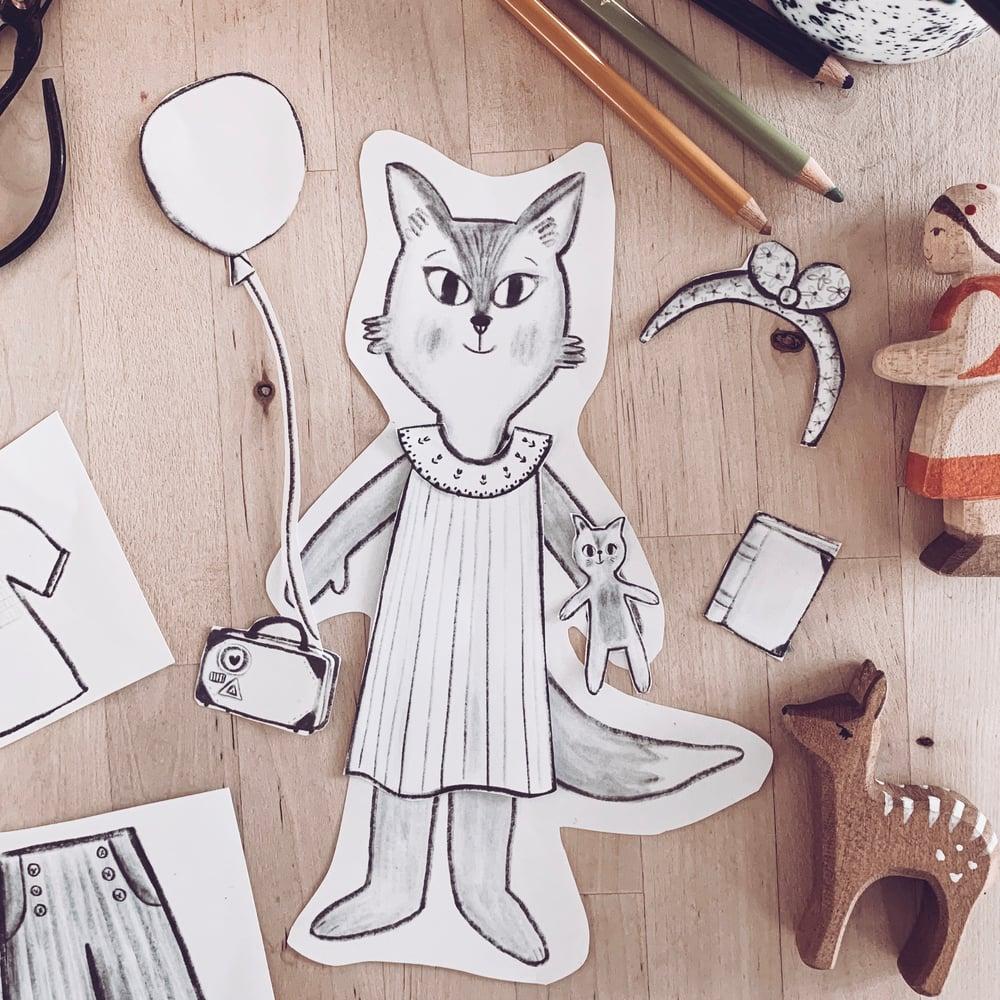 Image of Fox Paper Dolls