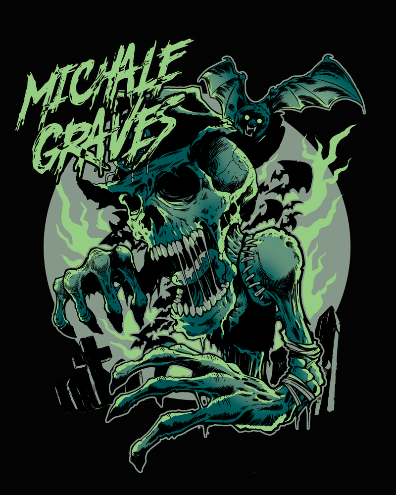 "Image of Michale Graves ""goblin"" sticker 4"""