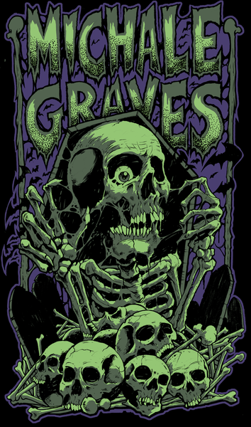 "Image of Michale Graves ""Bones"" sticker"
