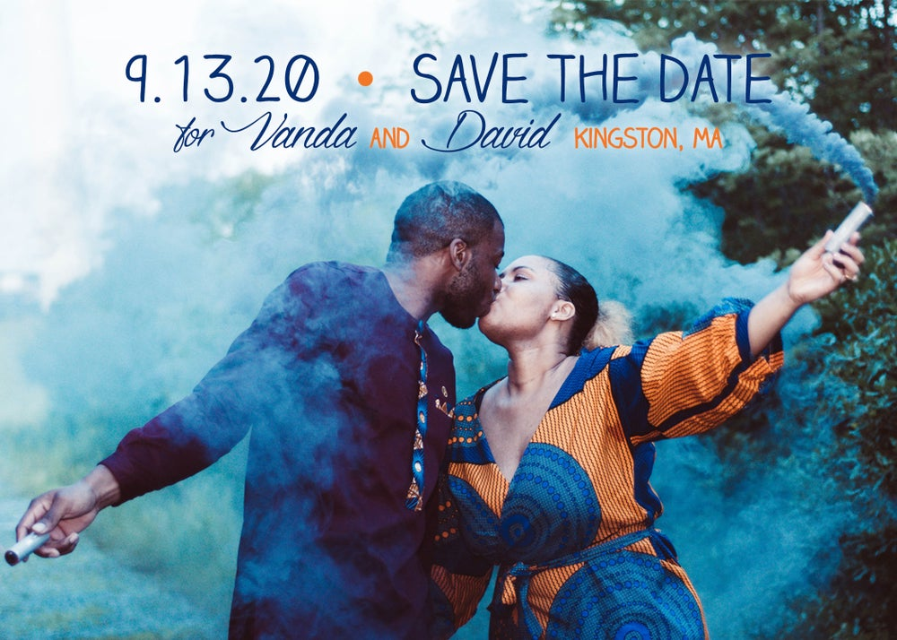 Image of Blue & Orange Save the Date