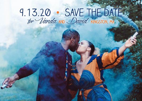 Image of Blue & Orange Save the Date