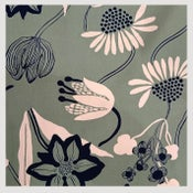 Image of Tissu: Funny  Spring Flowers