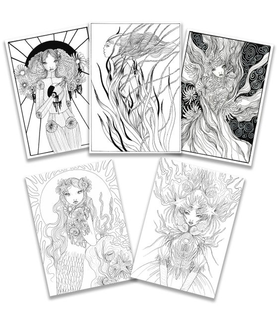 Image of 5 Downloadable colouring pages
