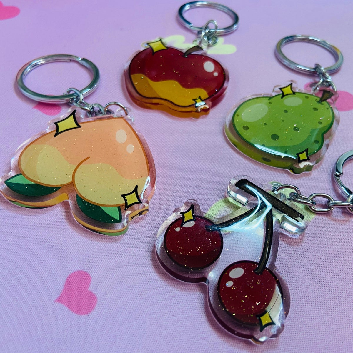 Image of Village Fruit Keychain