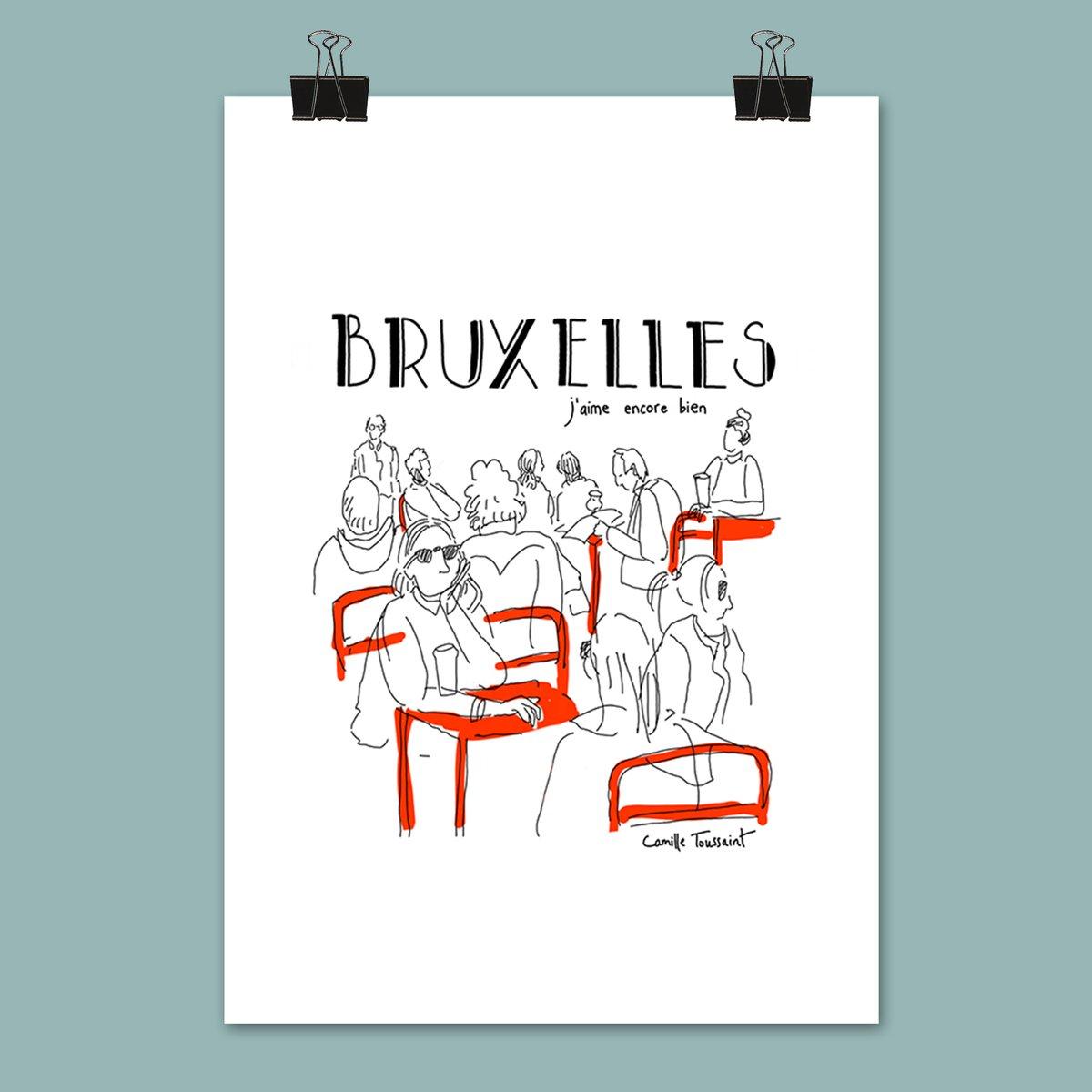 """Affiche """"Bruxelles j'aime encore bien"""""""