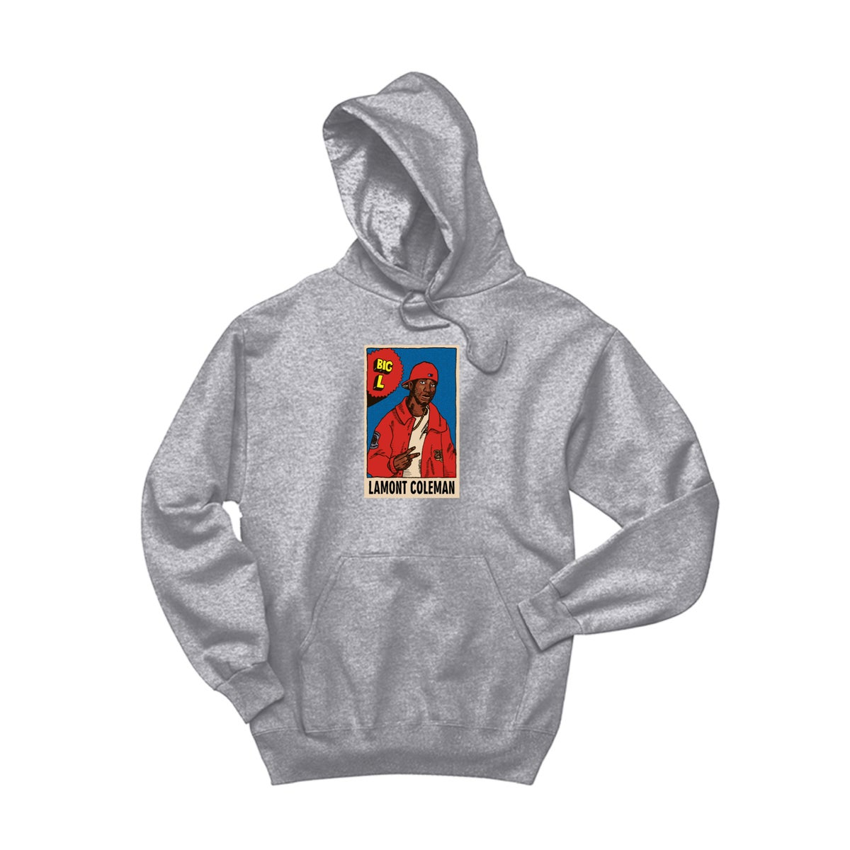 Image of Big L dedication Hoodie Grey