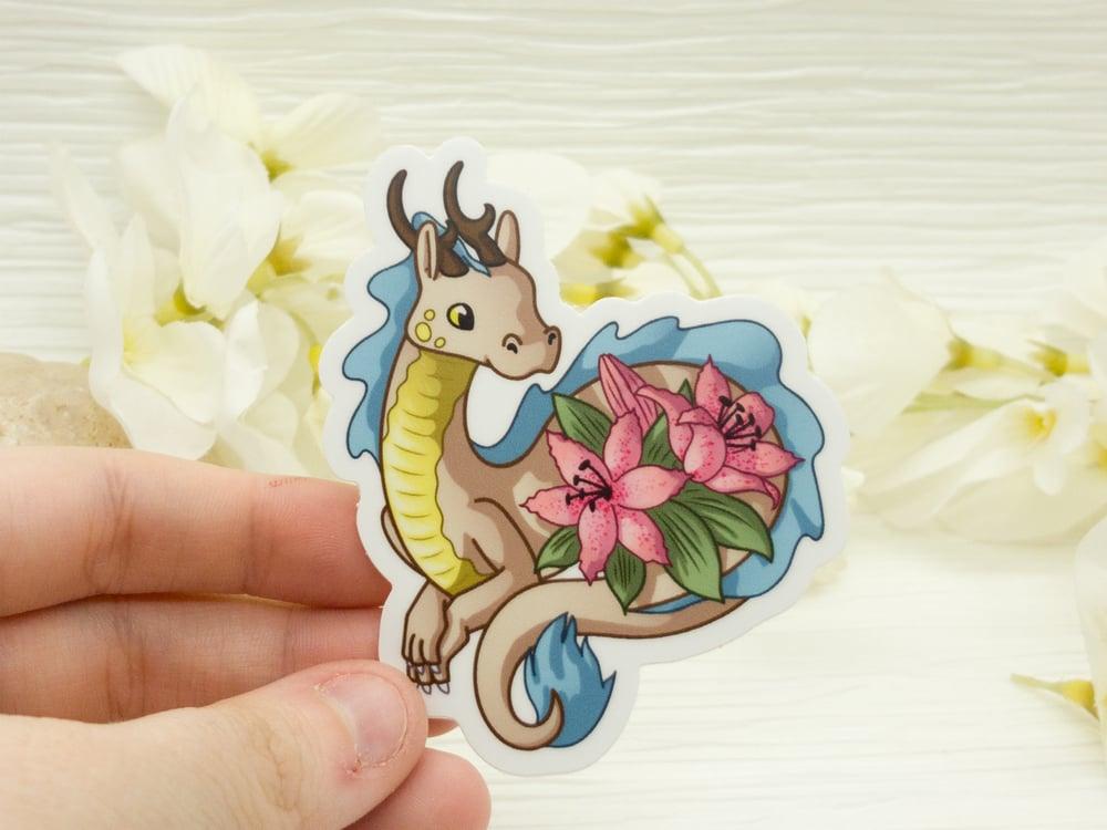 Lily Lindworm Dragon Vinyl Sticker - 3 inch
