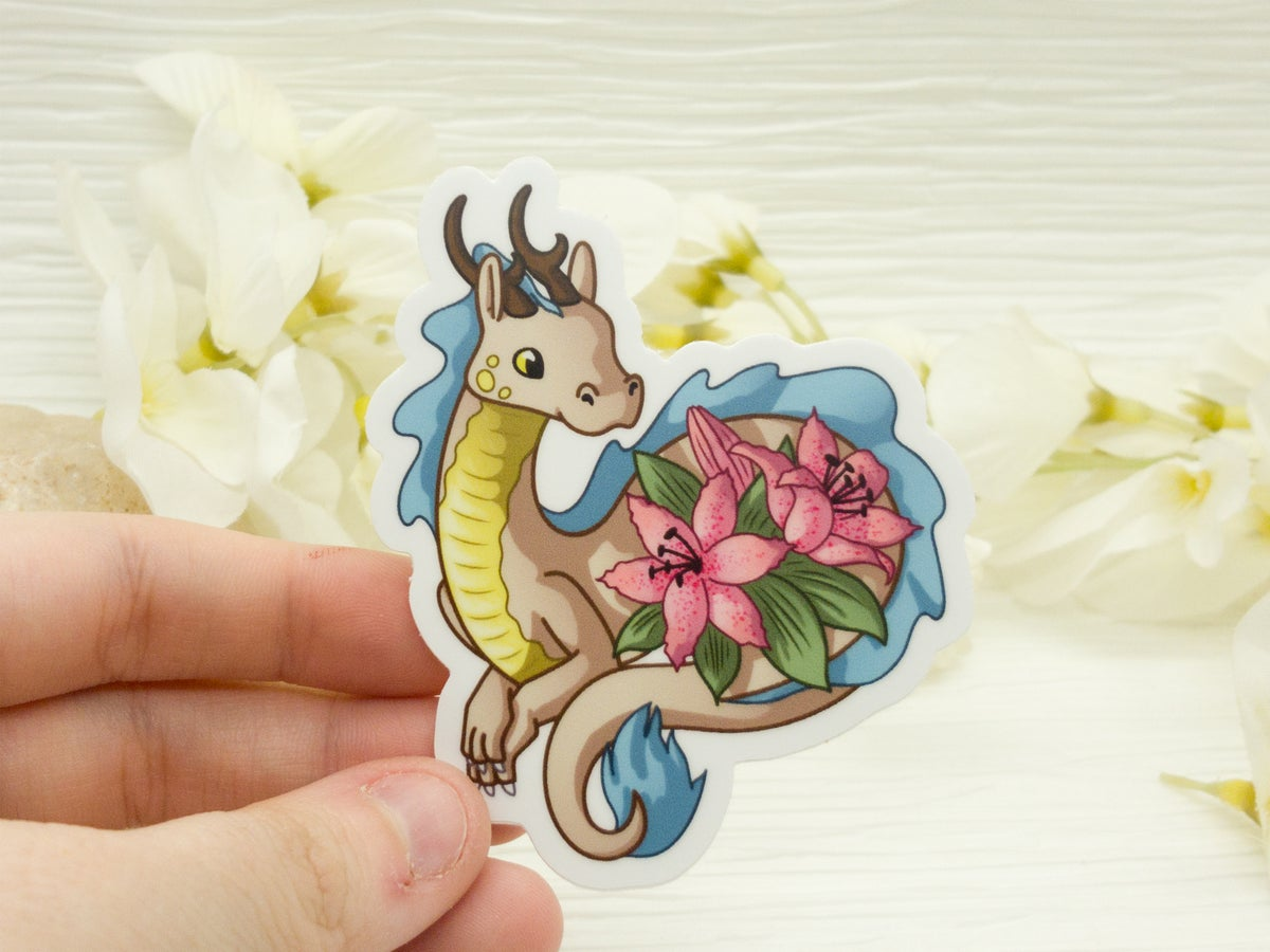 Lily Lindworm Dragon Vinyl Sticker - 3 inch