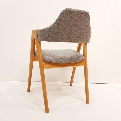Image of Set de 6 sillas de roble americano y tapiceria de lana