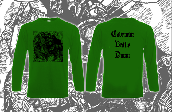 Image of Horseback Battle Hammer Green Long Sleeve