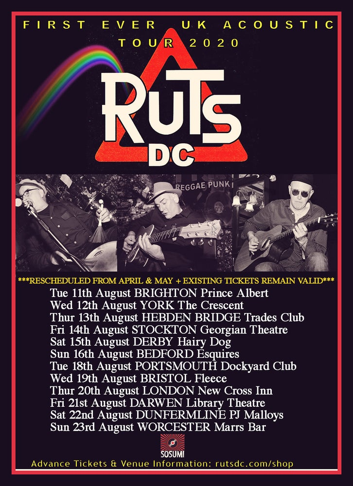 Image of RUTS DC Acoustic Ticket - WORCESTER - Sunday, 23rd August