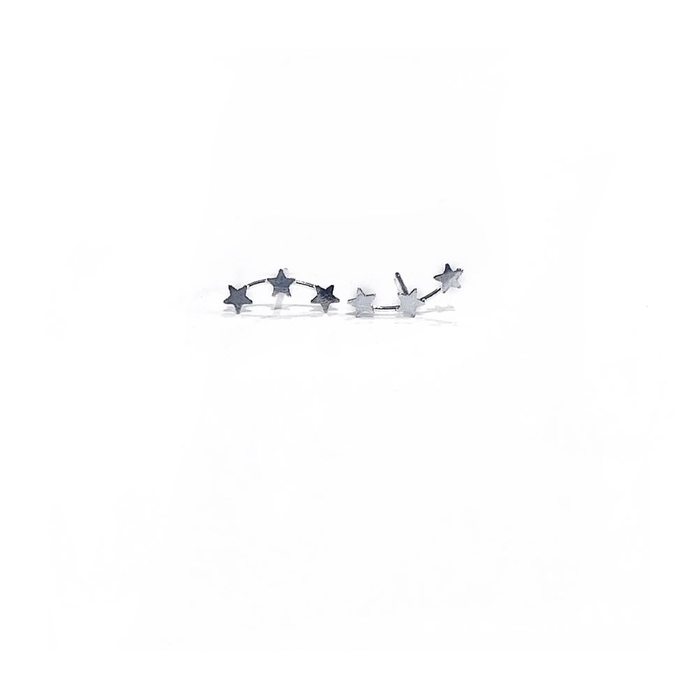 Image of Sterling Silver Mini Star Climber Earrings