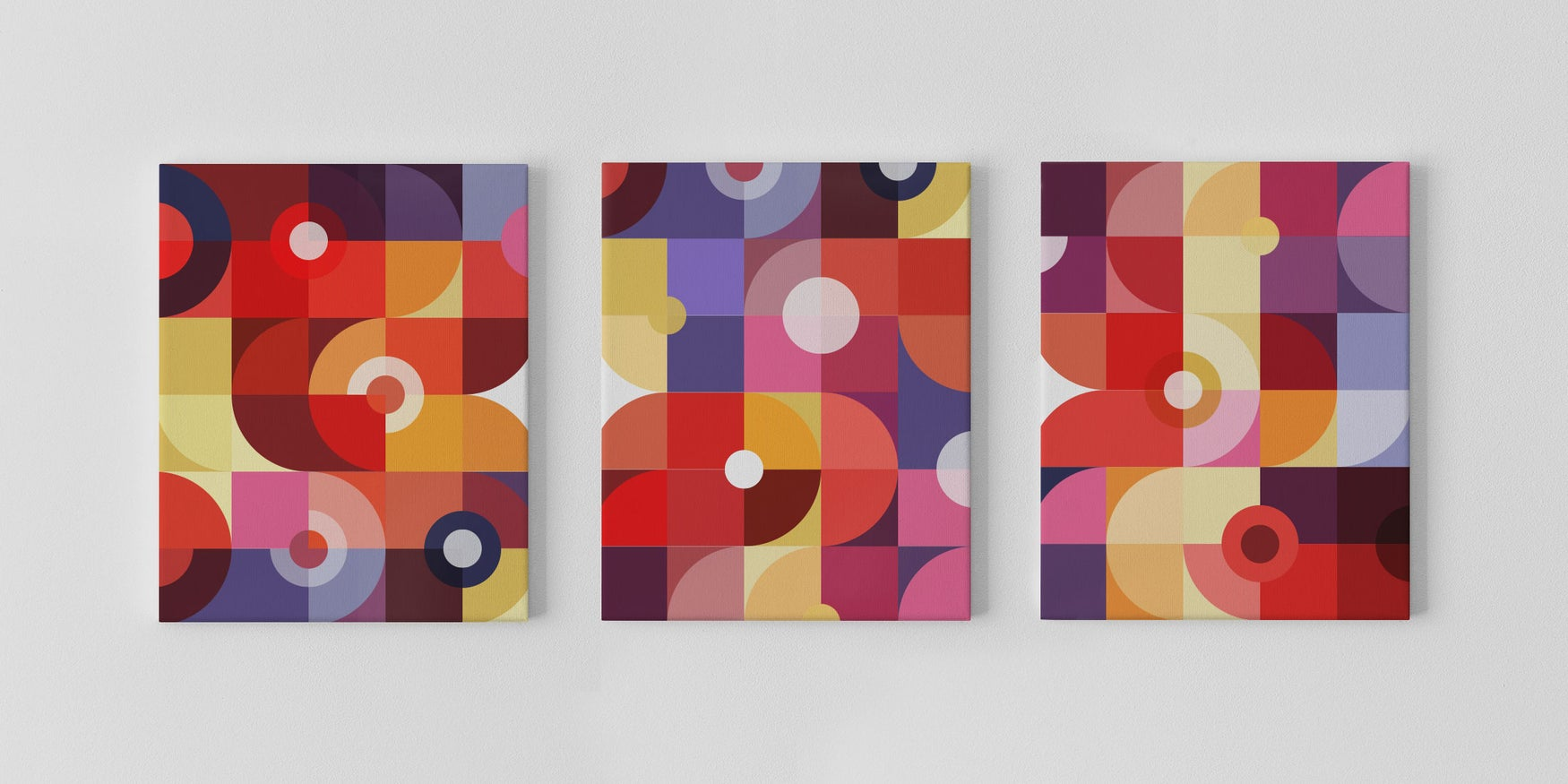Image of Mechanics of Color Canvas — 3 Canvas Print Set