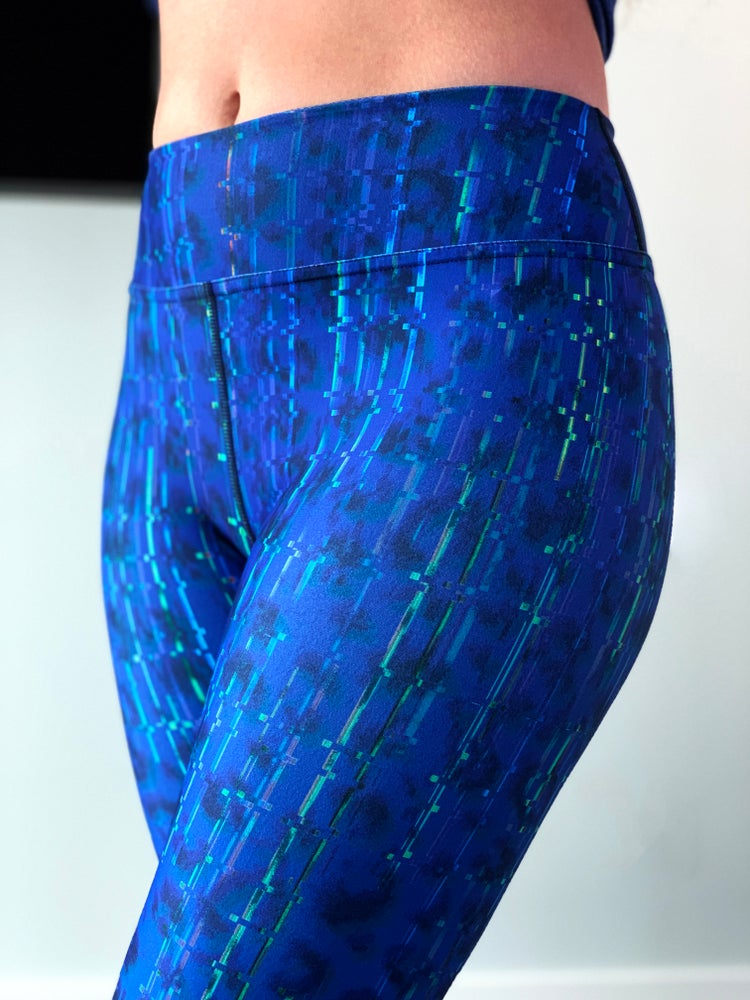 Image of Techno Leopard Yoga Pants