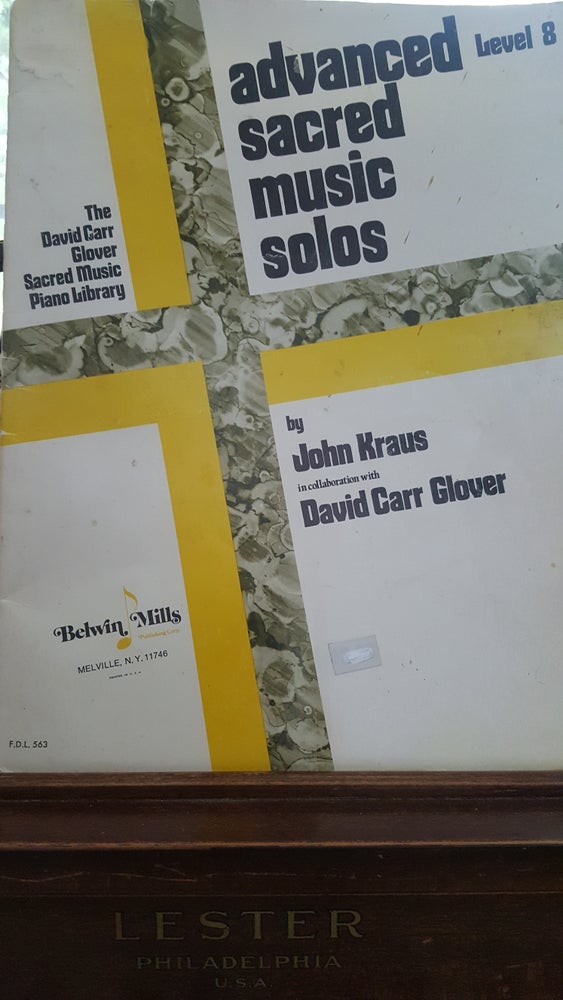 Image of John F. Kraus' Advanced Sacred Solos (piano level 8)