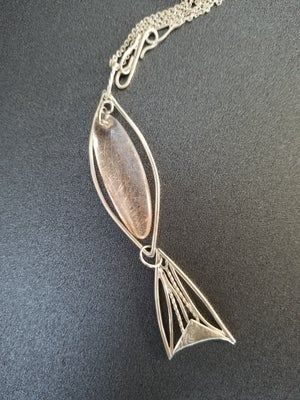 Rutilated Quartz/Sterling Fish Necklace