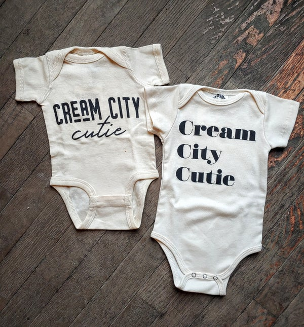 Image of Cream City Cutie Cream Onesie and Tee