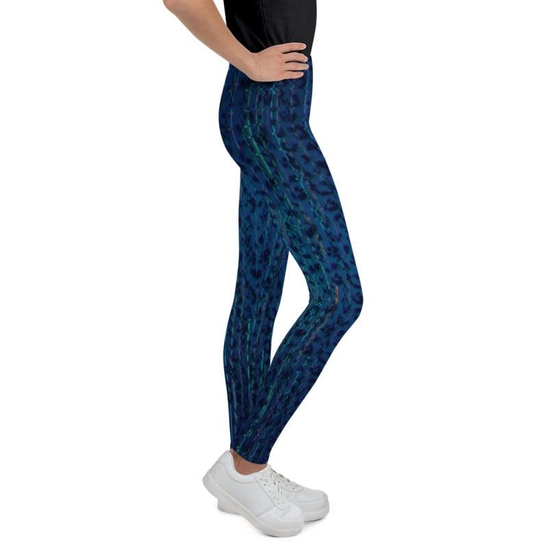 Image of Girl's Techno Leopard Yoga Pants