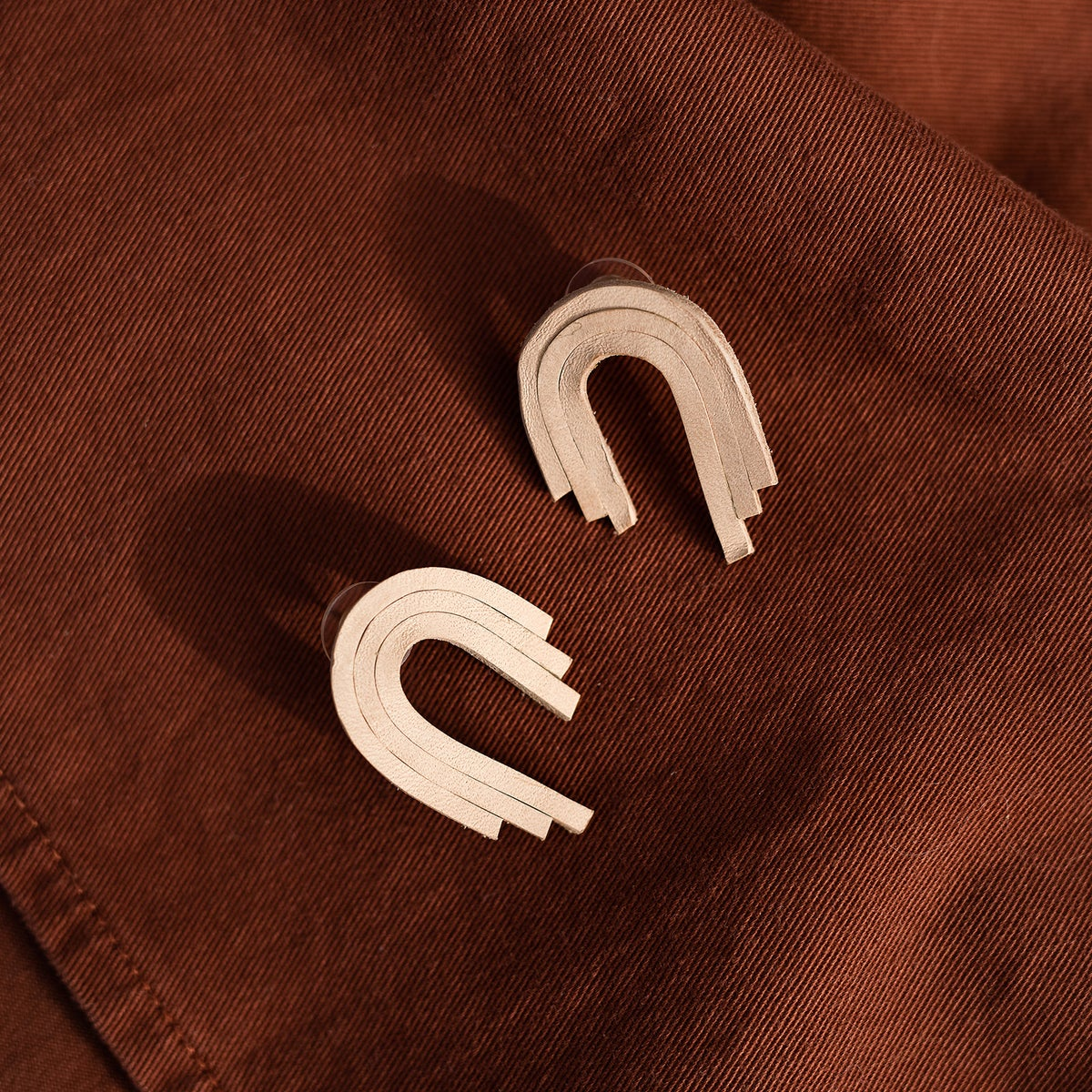 Image of Amber Leather Earrings