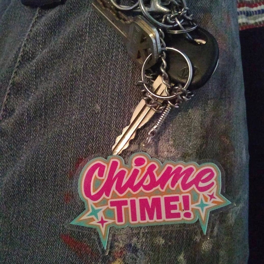 Chisme Time! Acrylic Keychain