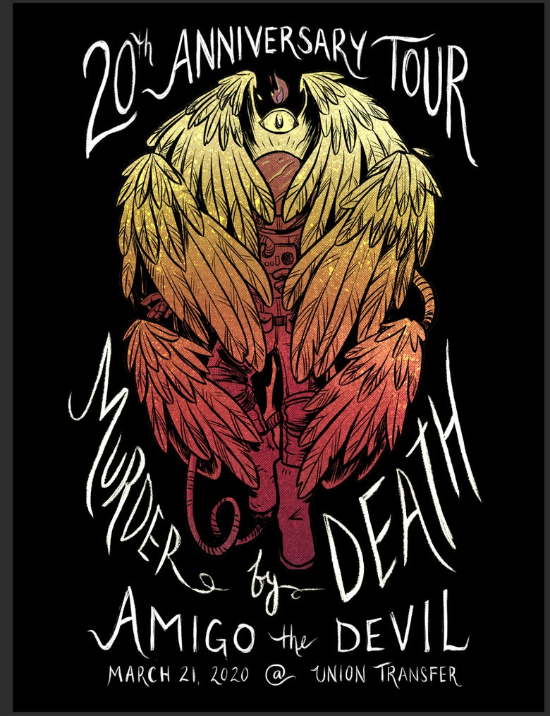 Image of Philly show poster for show that never happened