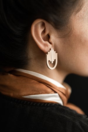 Image of Meena Leather Earrings