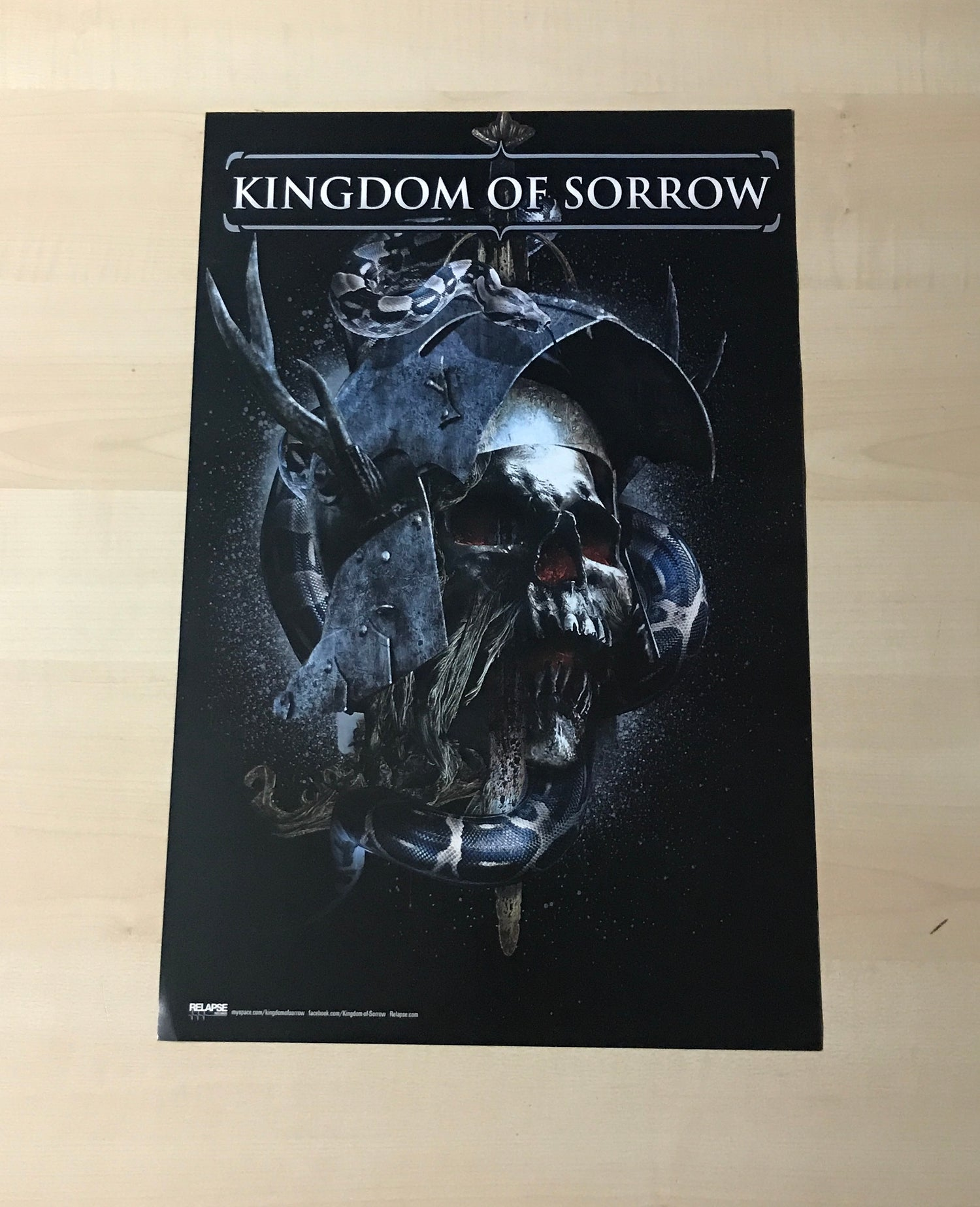 Image of KINGDOM OF SORROW POSTER - CROWBAR TOUR POSTPONEMENT FUND